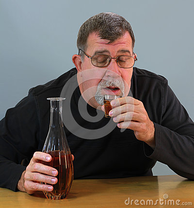 Adult Man Drinking Alcohol