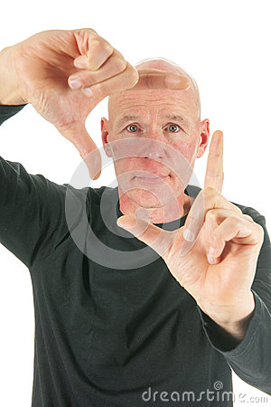 Adult man framing