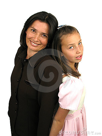 Adult mother with her daughter