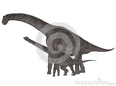 Adult and Young Brachiosaurus