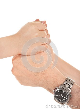 Adults and children s hands