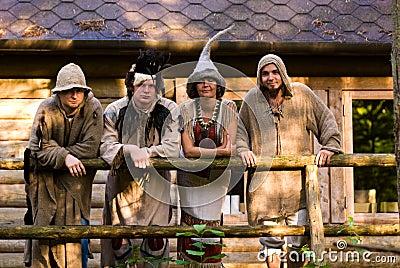 Adults dressed as trolls