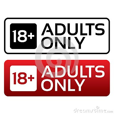 Free Adults Only Content Button. Age Limit Stamp. Stock Photo - 33470710
