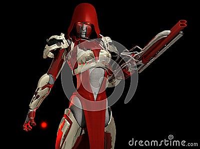 Advanced cyborg character