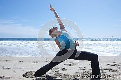 Advanced Yoga on Beach