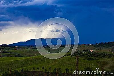 Advancing Thunderstorm