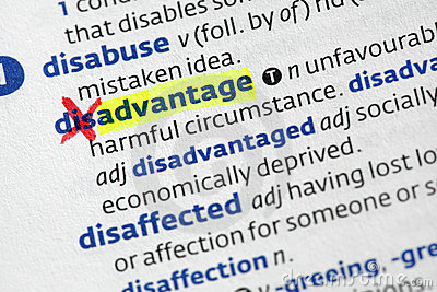 Advantage from disadvantage
