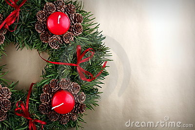Advent wreath detail
