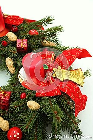 Advent wreath wih christmas decoration
