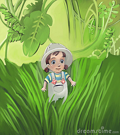 Adventure exploring toddler