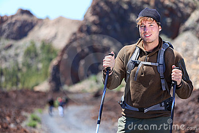 Adventure hiking man