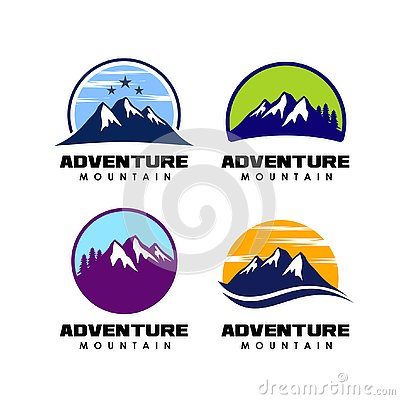 Free Adventure Logo Design. Mountain Logo Design Icon Stock Photo - 128767770