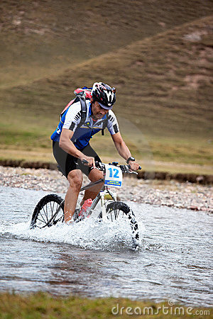 Adventure mountain bike competition Editorial Stock Photo