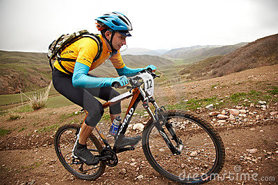 Adventure mountain bike competition Editorial Stock Image