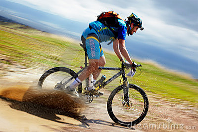 Adventure mountain bike competition Editorial Photography
