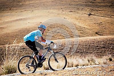 Adventure mountain bike competition Editorial Stock Photo