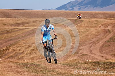 Adventure mountain bike marathon Editorial Stock Image