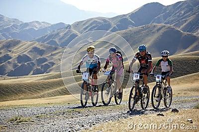 Adventure mountain bile competition Editorial Photo