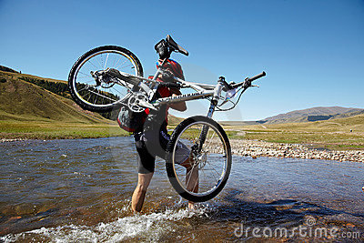 Adventure mountain bile competition Editorial Image