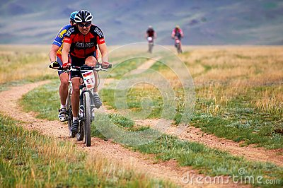 Adventure mountain buke competition Editorial Stock Photo