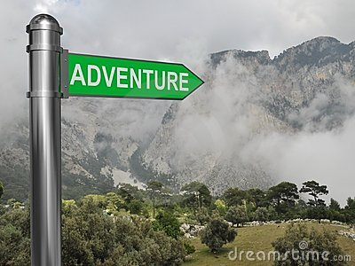 Adventure signpost