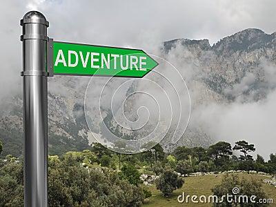 Adventure signpost