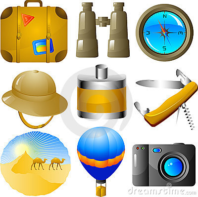 Free Adventures Icon Set Stock Photography - 9705102