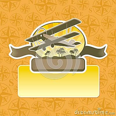 Adventures and travel emblem