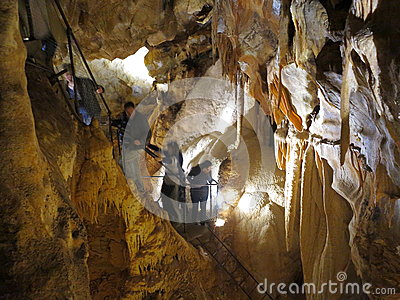 People in cave adventure Editorial Stock Photo