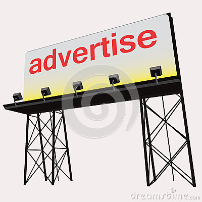 Advertise billboard clear panel construction