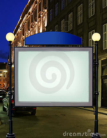 Advertise citylight with clear ad place