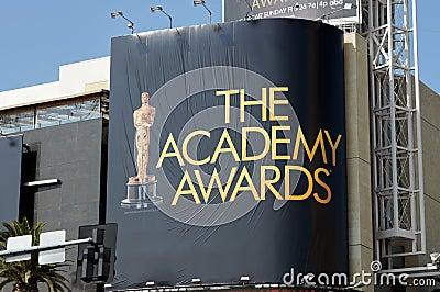 Advertising The Academy Awards Editorial Stock Photo