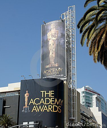 Advertising The Academy Awards Editorial Stock Photo