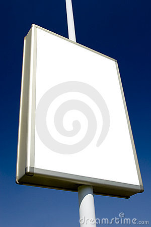 Free Advertising Billboard Blank 2 Royalty Free Stock Photos - 720168