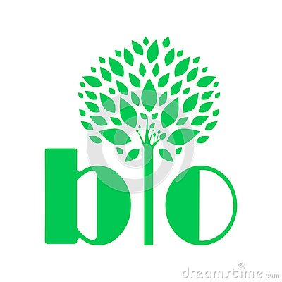 Advertising BIO logo. An example of a vector drawing Stock Photo