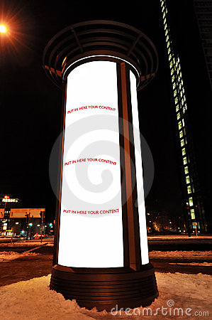 Advertising Column