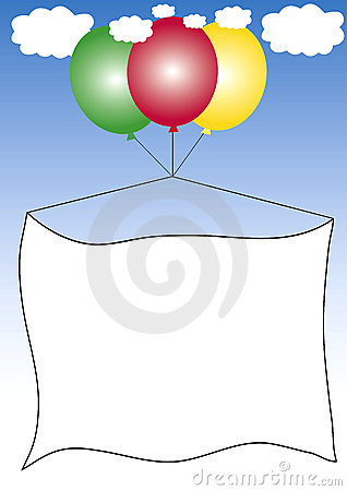 Free Advertising Frame On Balloons Royalty Free Stock Photos - 3041428