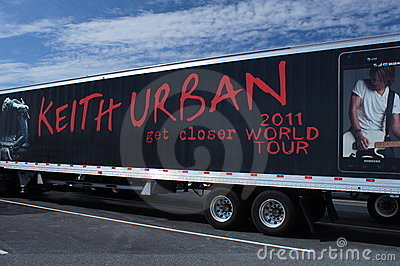 Advertising Keith Urban 2011 World Tour Editorial Photo