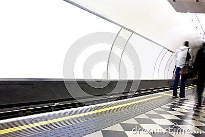 Advertising poster site in london underground