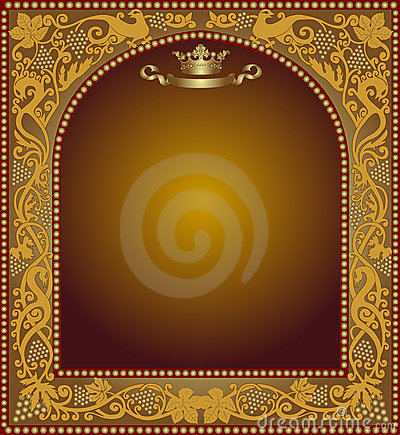 Advertising slavonik frame beer icon