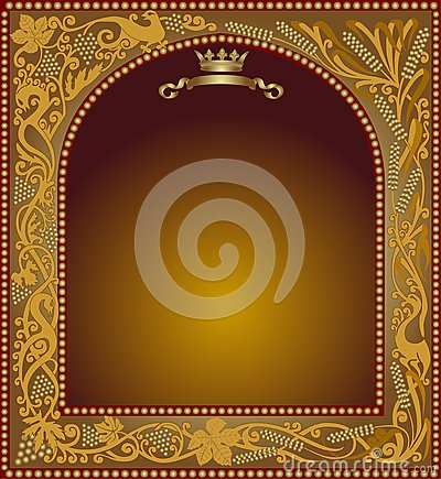 Advertising slavonik frame icon