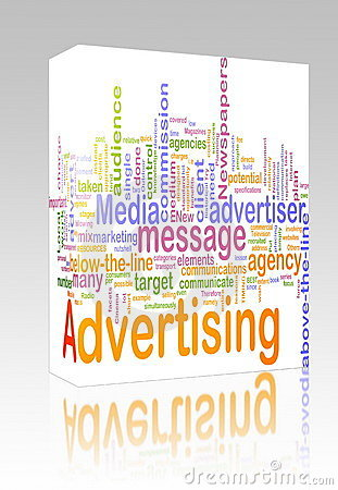 Free Advertising Word Cloud Box Package Stock Images - 12273114