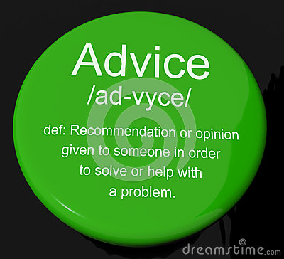 Advice Definition Button Showing Help