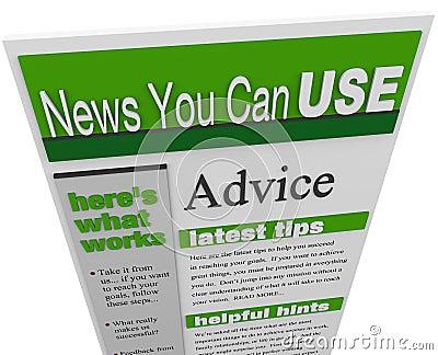 Advice eNewsletter Tips Hints Support Ideas Newsletter