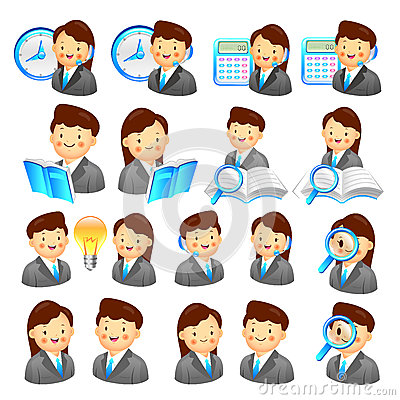 A adviser icon and various Business Man and Woman. Creative Icon