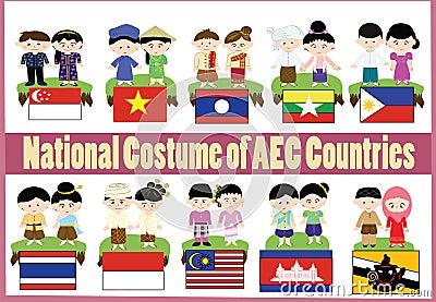 AEC national custome Stock Photo
