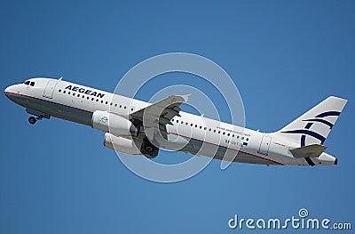 Aegan Airbus 320 Editorial Stock Image