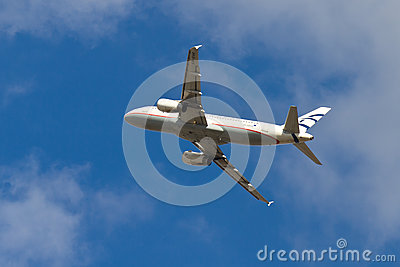 Aegean Airlines Airbus A320-232 Editorial Stock Image