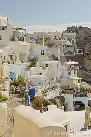 Aegean island santorini