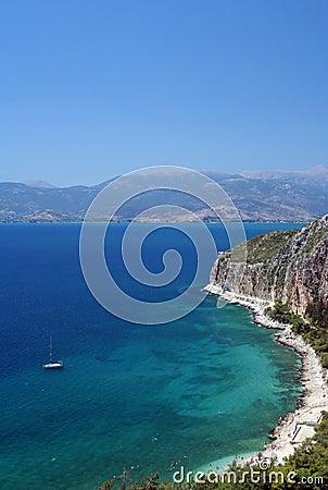 Aegean sea coast near Nafplio